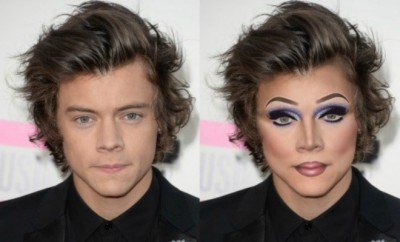 Harry Styles as a drag queen..