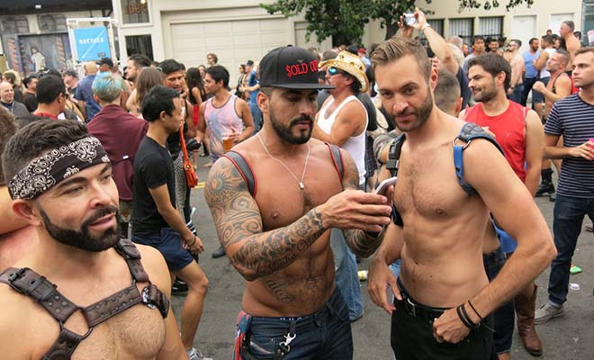 A photo of two gay guys in San Francisco.