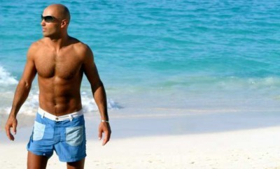 A photo of a hot guy in antigay Bahamas.