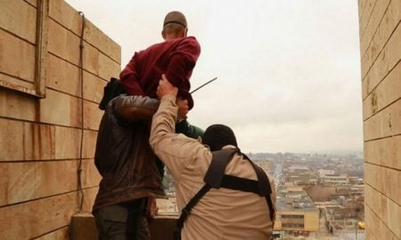 ISIS throws gay man off building