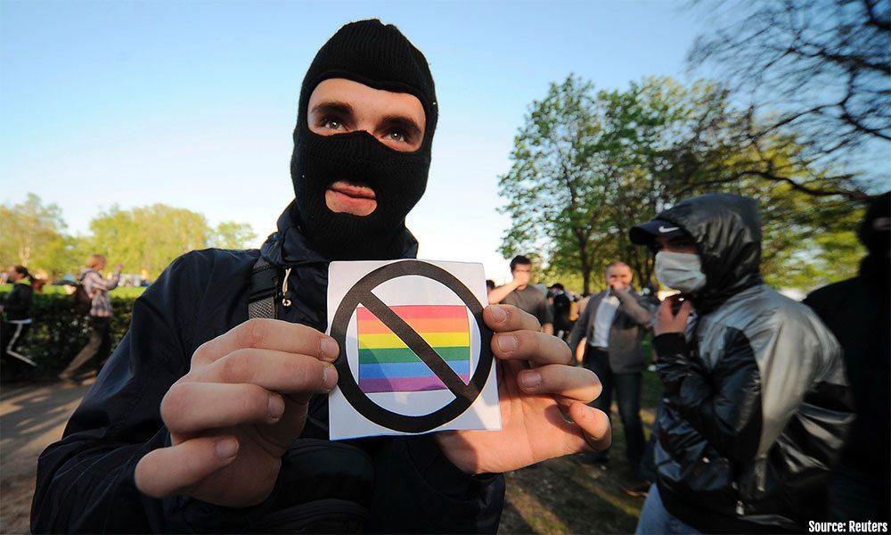 Anti gay protestor