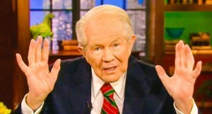 A photo of antigay televangelist Pat Robertson.