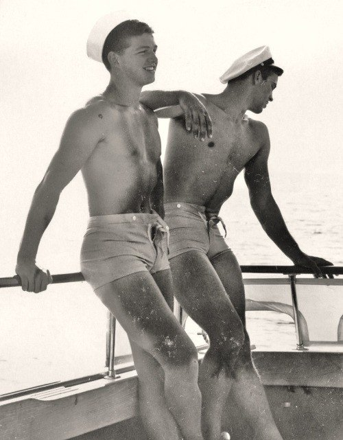 A vintage photo of gay sailors.