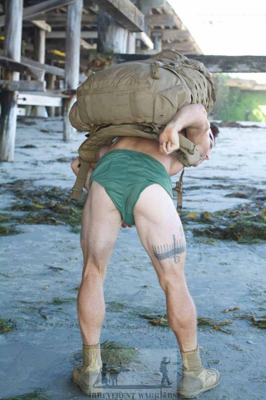 Studly marines strip to fight PTSD.