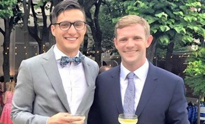 Gay couple beats up homophobic attacker.
