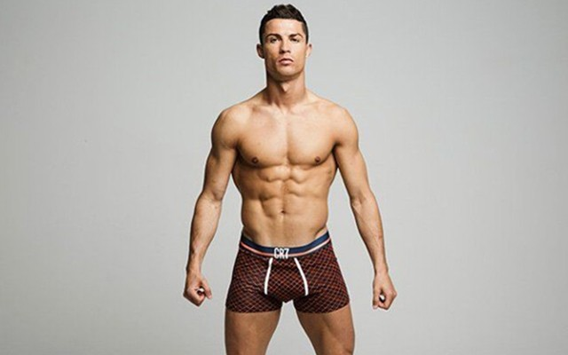 A photo of Cristiano Ronaldo in his underwear.