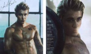 Justin Bieber oils up and strips down for Cosmo.