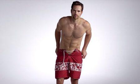 A photo of a hot guy wearing mens swimwear.