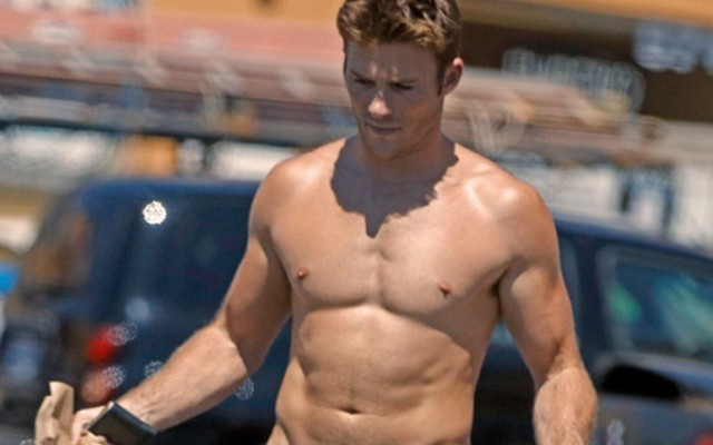 Scott Eastwood took a stroll down the beach. without wearing any underwear.