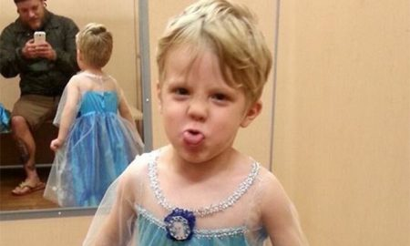 What a Treat! This Dad Let's His Son Go as Elsa for Halloween