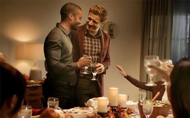 Gay couple in Kohl's holiday commercial