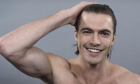 A collection of the men's hairstyles of the last century.