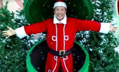 This is a photo of Sean Hayes in a holiday costume.