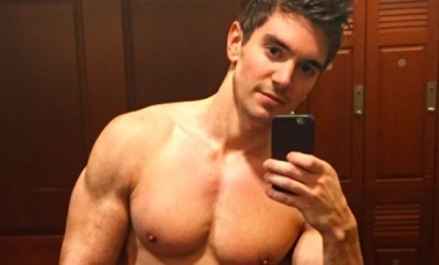 This is a photo of Steve Grand shirtless.