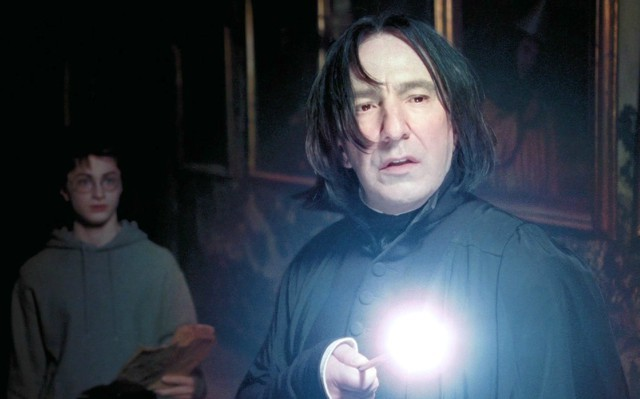 Alan Rickman as Severus Snap in Harry Potter