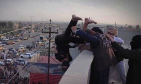 This is a photo of ISIS executing a gay man.