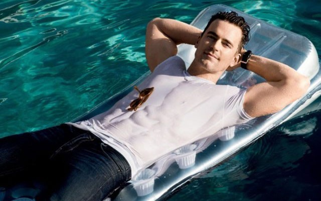 This is a photo from Matt Bomer's 'Men's Fitness' photoshoot.