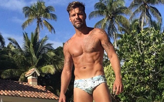 This is a photo of Ricky Martin shirtless.
