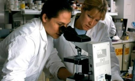 NIAID scientists studying the human immune response to HIV.