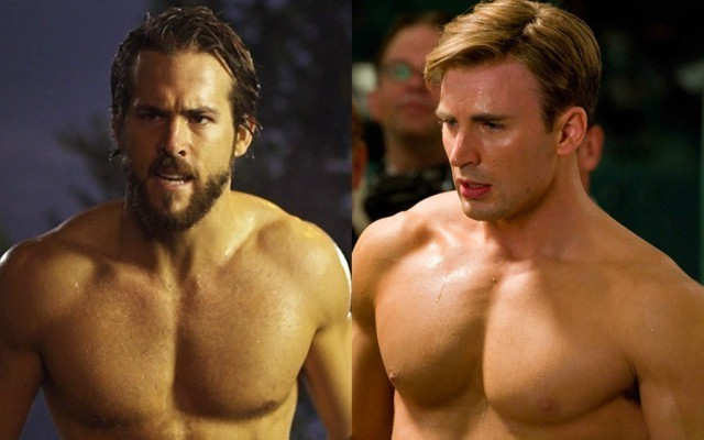This is a photo of Ryan Reynolds and Chris Evans.
