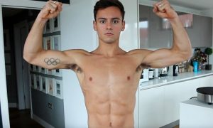 This is a photo of Tom Daley from his YouTube channel.