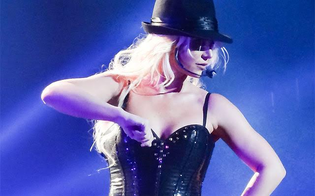 This is a photo of Britney Spears performing.