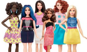 This is a photo of the new Barbie dolls.