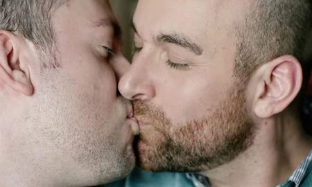 This is a photo of a gay couple from a Hallmark commercial.