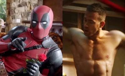 This is a photo of Ryan Reynolds and Deadpool.