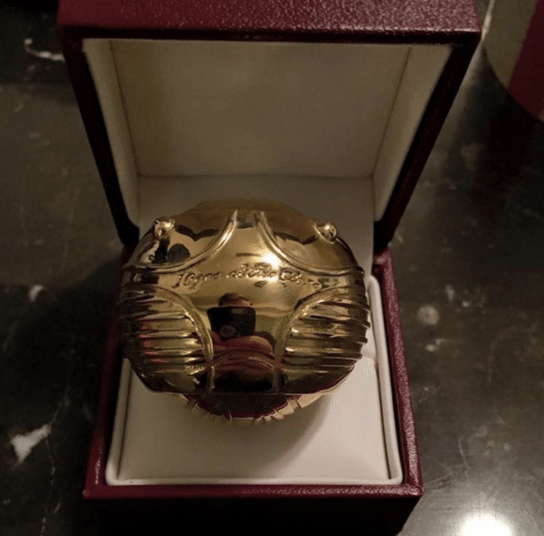Golden Snitch ring box