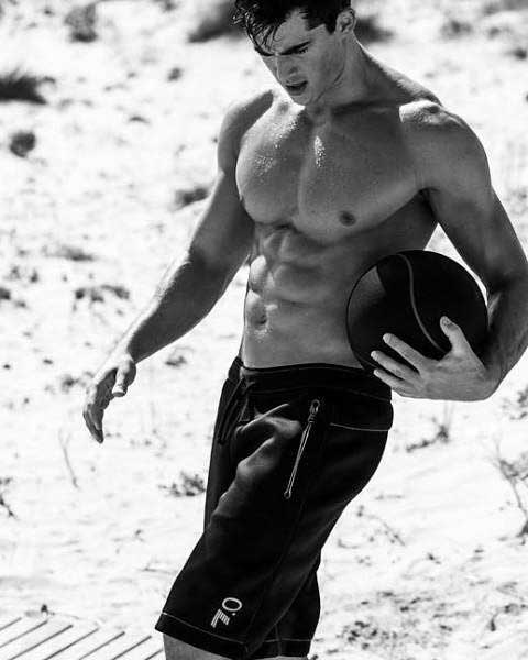 This is a photo of Pietro Boselli from the Armani campaign.