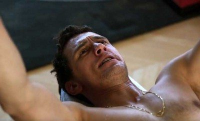 James Franco working out in the film 'King Cobra.'