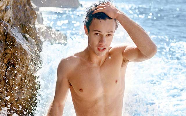 This is a photo of Viner Cameron Dallas for Calvin Klein.