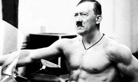 This is a photo of Adolph Hitler.