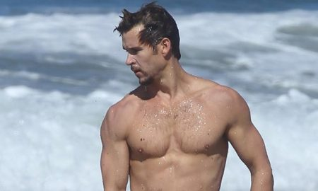 This is a photo of Ryan Kwanten at the beach.