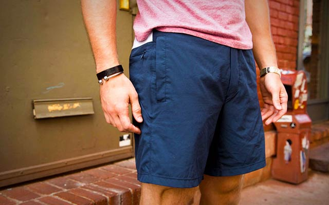 Gym shorts for guys who go commando.