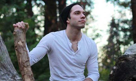 David Artavia in the forest.