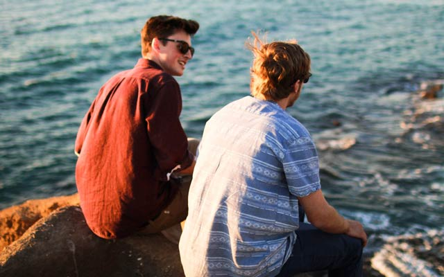 This is a photo of a young gay couple.
