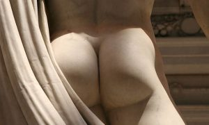 This is a photo of the Gluteus Maximus Statue at The Girls NY.