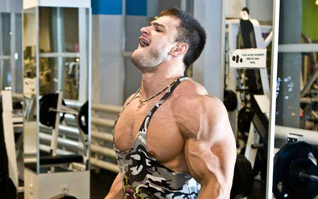 This is a photo of a guy working out.