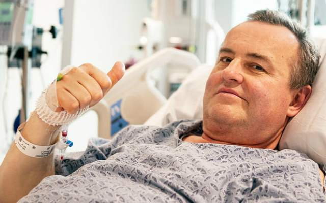 This is a photo of a man who underwent the first penis transplant in the United States.