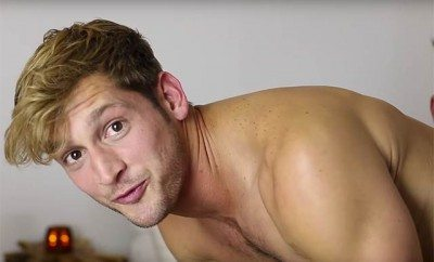 This is a photo of Max Emerson manscaping.