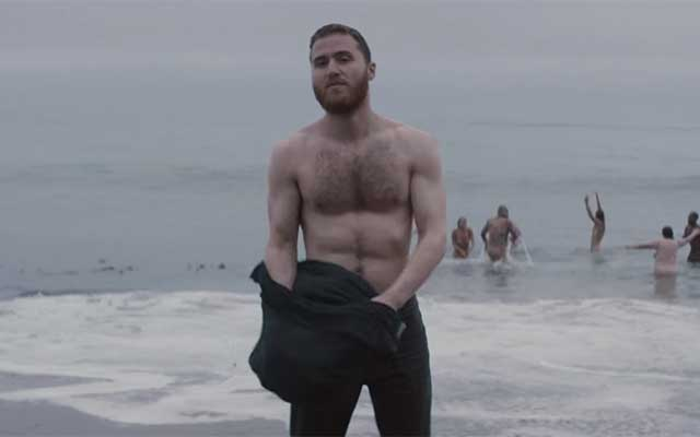 Mike Posner Goes Skinny Dipping in the Sea