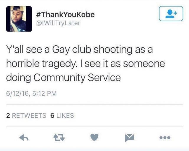Man applauds Orlando Shooting.