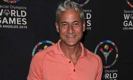 Greg Louganis at the Special Olympics Inaugural Dance Challenge.
