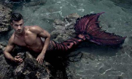 A male mermaid also known as a merman.