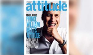 Prince William on the cover of gay magazine Attitude.