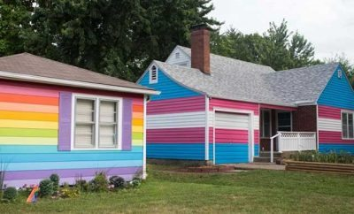 The Westboro Baptist Church rainbow houses