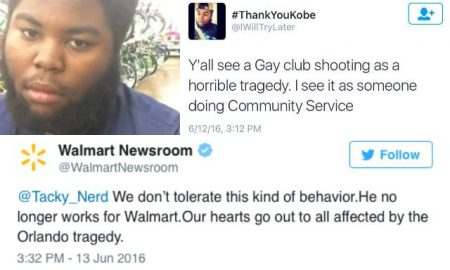 Walmart fires employee for applauding Orlando Shooting.