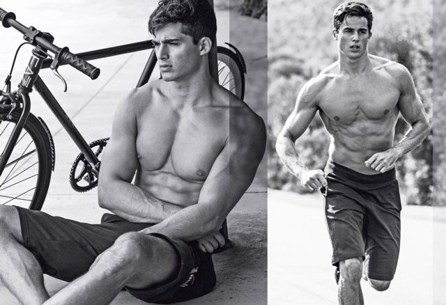Pietro Boselli models Team Italy's Emporio Armani Olympic gear.
